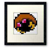 Pokemon 8-Bit Pixel Kabuto 140 Framed Print