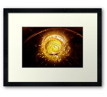 Golden impact Framed Print