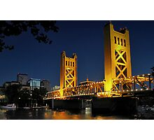 Sacramento Tower Bridge Photographic Print