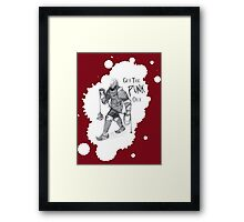Get the Punk Out Framed Print