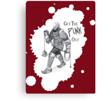 Get the Punk Out Canvas Print