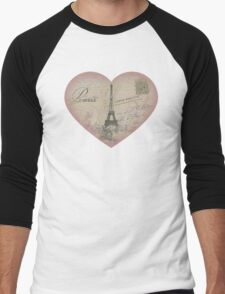Paris in my heart Men's Baseball ¾ T-Shirt