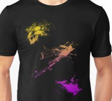 color splash yellow-purple Unisex T-Shirt