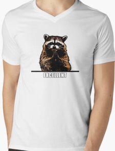 Evil Raccoon Mens V-Neck T-Shirt