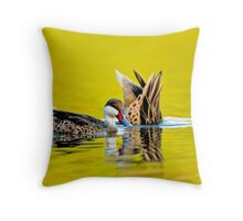 White Cheeked Pintails 2 Throw Pillow