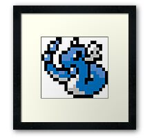 Pokemon 8-Bit Pixel Dragonair 148 Framed Print