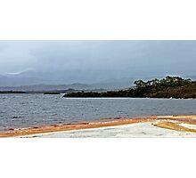 Lake Pedder in the Rain - South West Tasmania Photographic Print