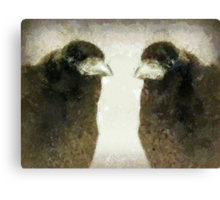 T is for ... TRUTH about Why Crows Are Cool Canvas Print