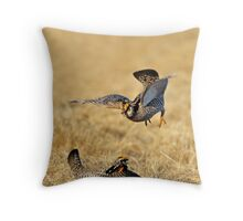 Prairie Chickens  Throw Pillow