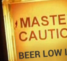 Beer Low Level Caution Light Sticker