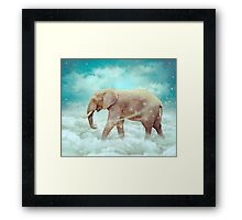 Walk With the Dreamers (Elephant in the Clouds) Framed Print