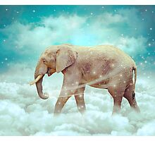 Walk With the Dreamers (Elephant in the Clouds) Photographic Print