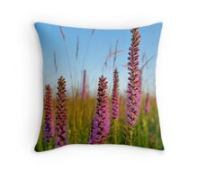 Blazing Star Wildflowers Throw Pillow
