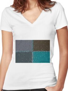 colored background texture Women's Fitted V-Neck T-Shirt