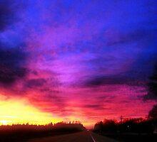 Magenta Sky Drive by mezzilicious
