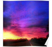 Magenta Sky Drive Poster