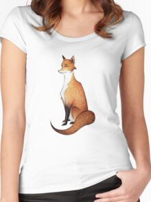 Serious Fox Women's Fitted Scoop T-Shirt