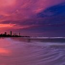 Flaming Pinks by Ken Wright