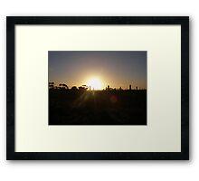 Vineyard Sunrise Framed Print