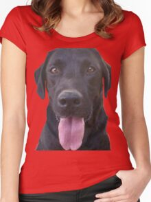 dogs, cartoon Women's Fitted Scoop T-Shirt