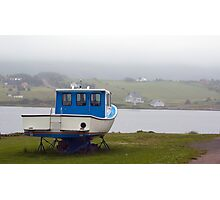 Fog in the harbour Photographic Print