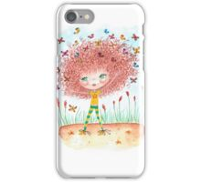 Flossy butterfly illustration iPhone Case/Skin