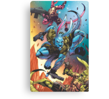 Salty Roos Galactic Guardians Canvas Print