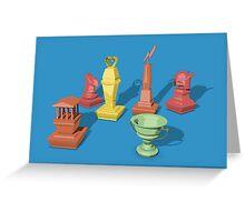 Greek Chess Greeting Card