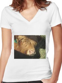 Moose  26 January 2015 Women's Fitted V-Neck T-Shirt