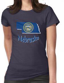 nebraska state flag Womens Fitted T-Shirt