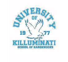 School Of Hardknocks Blue Photographic Print