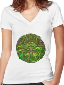 GreenMan Women's Fitted V-Neck T-Shirt