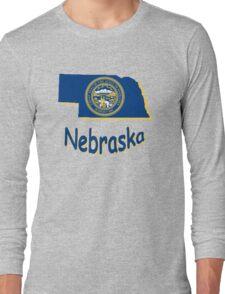 nebraska state flag Long Sleeve T-Shirt