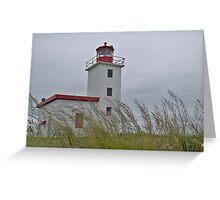 Caribou lighthouse Nova Scotia Canada Greeting Card