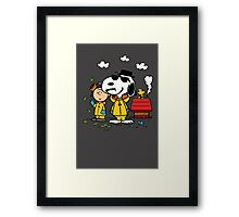 Peanuts BreakingBad Framed Print