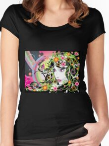 Summer Girl 2 Women's Fitted Scoop T-Shirt