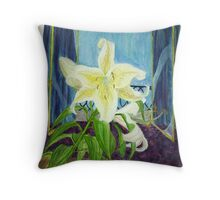 Lily On the Edge Of Twilight Throw Pillow