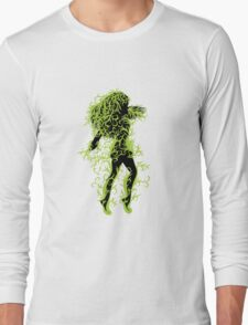 Girl with green floral T-Shirt