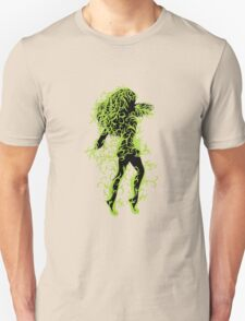 Girl with green floral Unisex T-Shirt