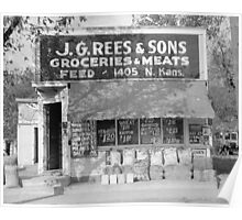 Grocery & Feed Store, 1938 Poster