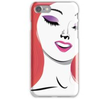 Girl with red hair 3 iPhone Case/Skin