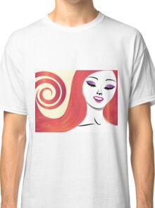 Girl with red hair 3 Classic T-Shirt