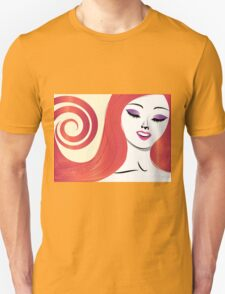 Girl with red hair 3 T-Shirt