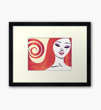 Girl with red hair 3 Framed Print