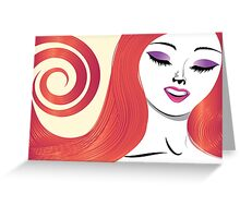 Girl with red hair 3 Greeting Card