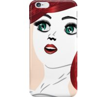 Girl with red hair 4 iPhone Case/Skin