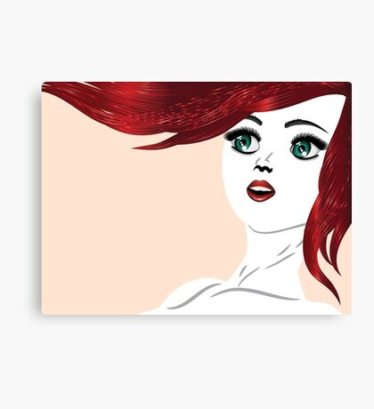 Girl with red hair 4 Canvas Print