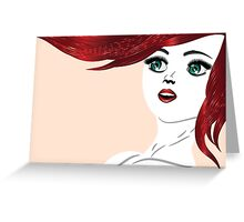 Girl with red hair 4 Greeting Card