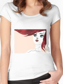 Girl with red hair 4 Women's Fitted Scoop T-Shirt