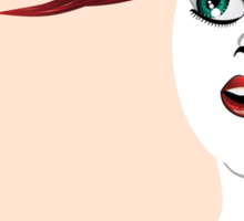Girl with red hair 4 Sticker